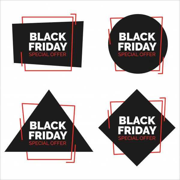 Black Friday Sale Banners Set