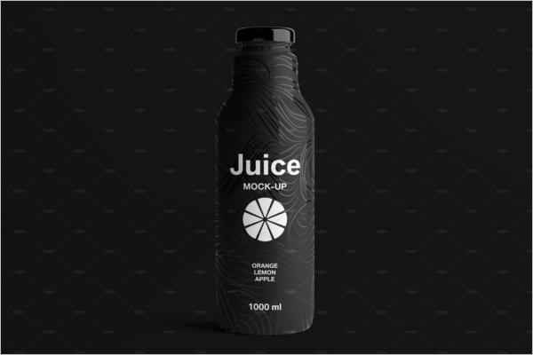 BlackJuice Bottle Mockup Design