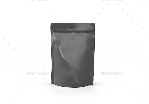 Black Paper Bag Mockup Design