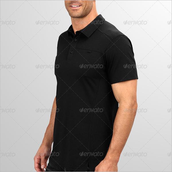 Black Polo t-Shirt Mockup