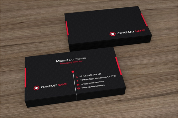 Black & Red Corporate Business Card