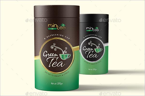 Black Tea Packaging Mockup