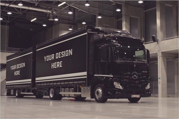Black Truck Mockup Design