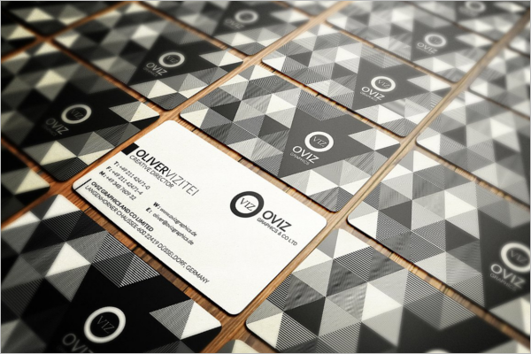 Black & White Business Card Abstract Design