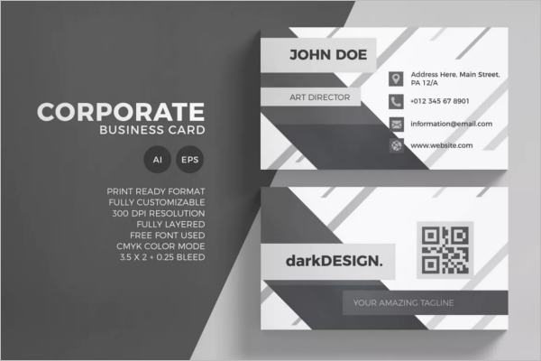 Black & White Business Card Corporate Design