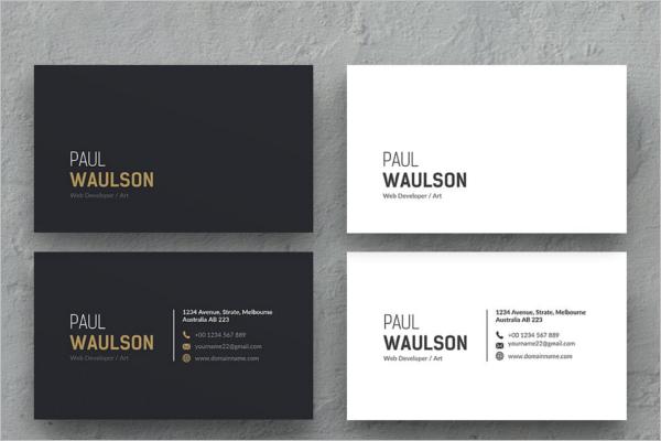 Black & White Business Card Design