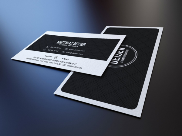 Black & White Business Card PhotoShop
