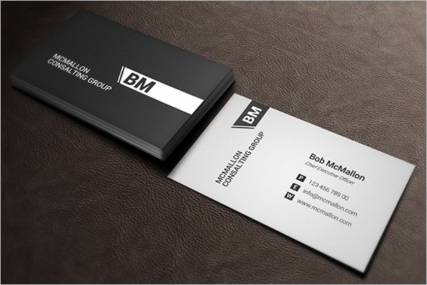 Black white business card template free psd for White business card template
