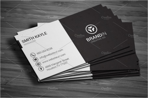 Black & White Business Card Template Word