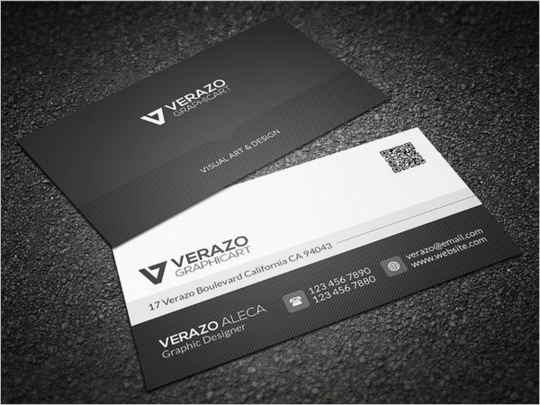 Black & White Business Card Vector
