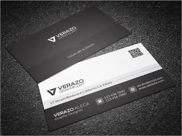 Black & White Business Card Vector