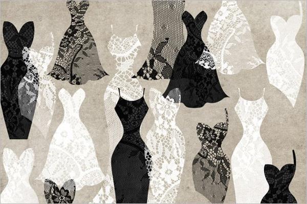 Black & White Dress Design