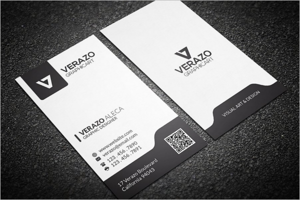 Black & White Vertical Business Card