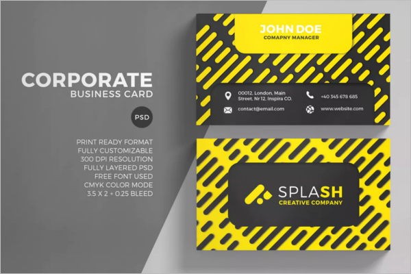 Black & Yellow Business Card Template