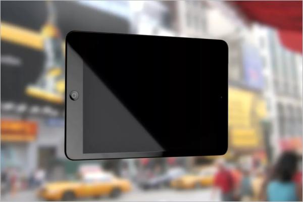 Black iPad Mockup