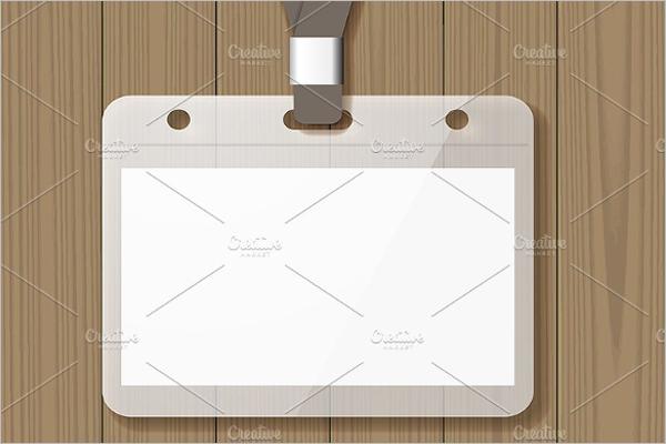 Blank Badge Mockup Design