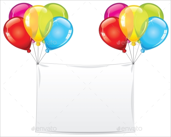 Blank Birthday Banner Template