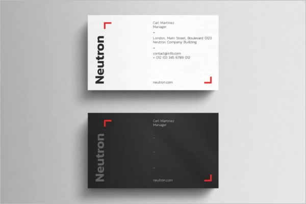 Blank Black & White Business Card Template