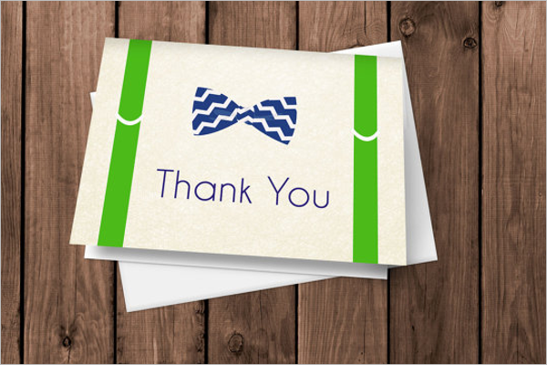 Blank Christmas Thank You Card