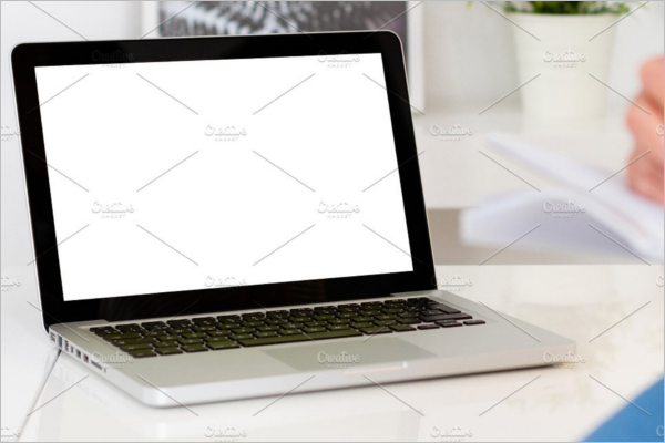 Blank Computer Mockup Design