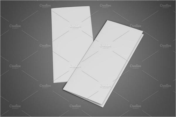 Blank Leaflet Brochure Mockup Design