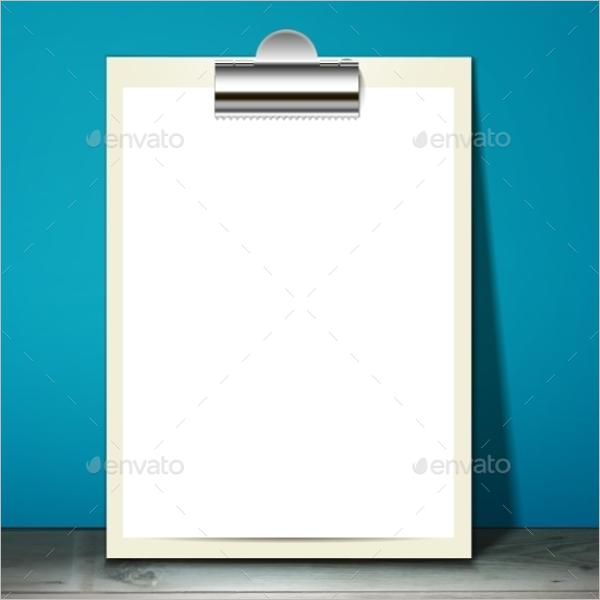 Blank Paper Mockup Design