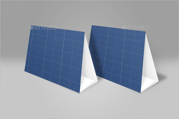 Blank Table Tent Card Mockup
