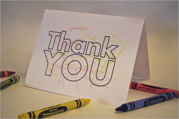 Blank Thank You Card Design