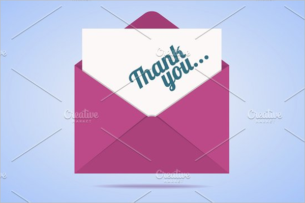 Blank Thank You Card Template