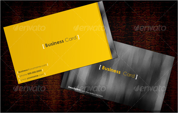 Blank Yellow Business Card Template