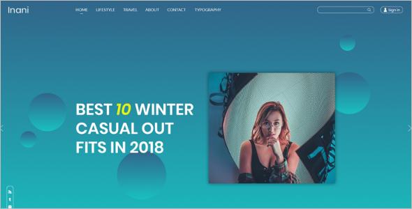 Blog Design Template Bootstrap