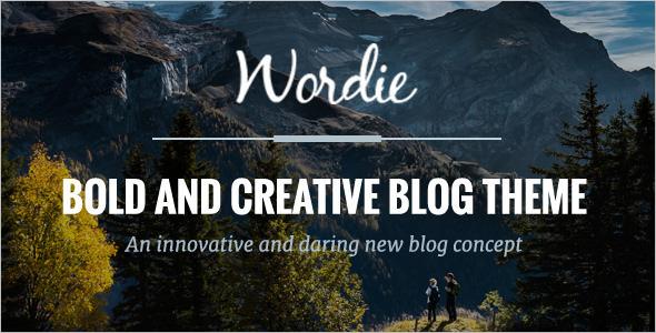 Blog Design Template WordPress
