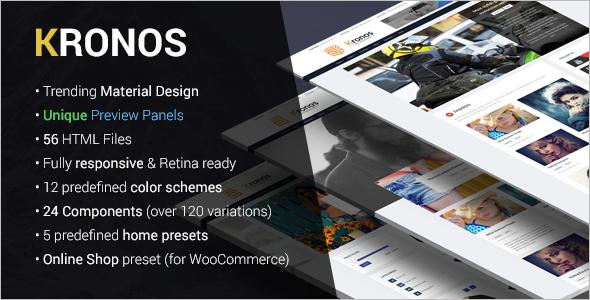 Blog Material Design Template