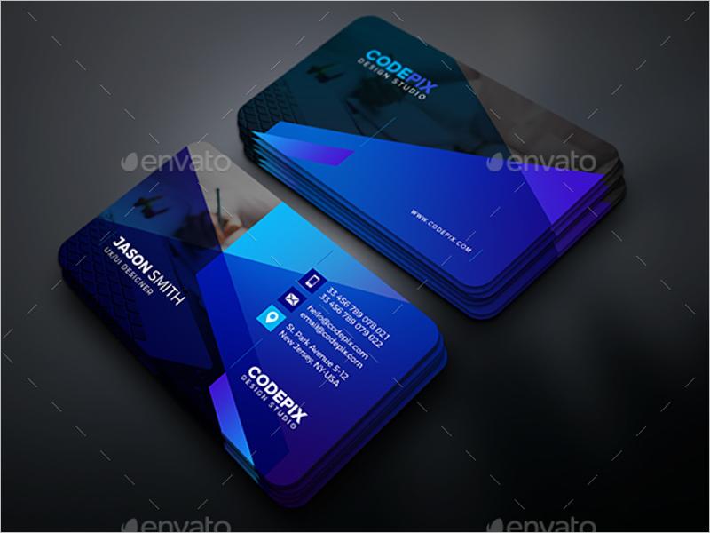 Blue Business Card Print Design