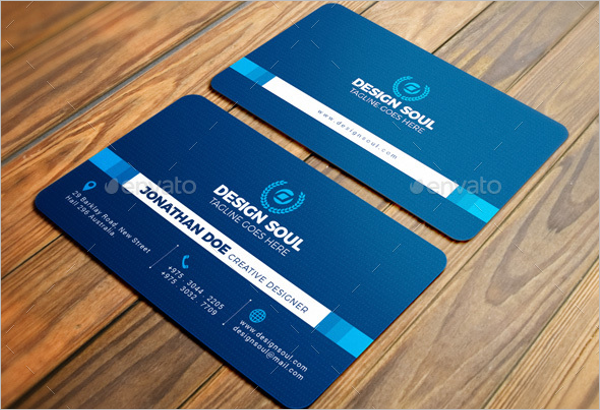Blue Corporate Business Card Template