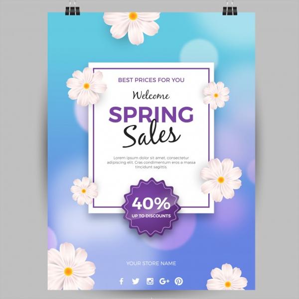 Blue Spring Sale Free Flyer