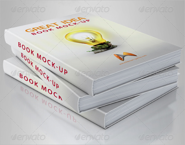 Book Cover Mockup Clean Design