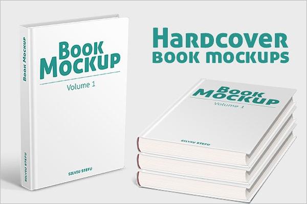Book Hard Cover Mockup Design