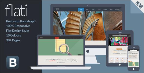 Bootstrap Flat Design Template