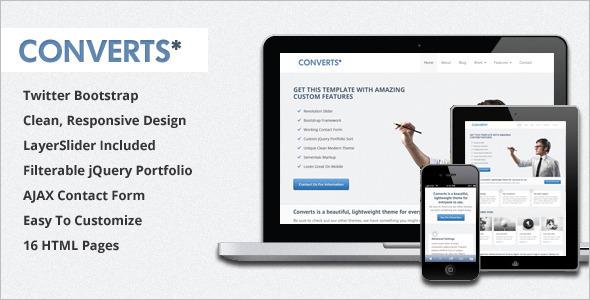Bootstrap HTML Theme