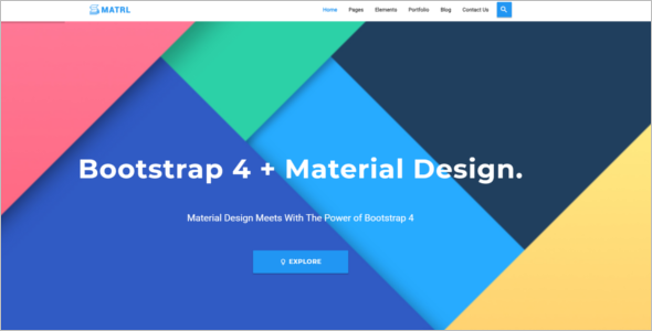 Bootstrap Material Design Template