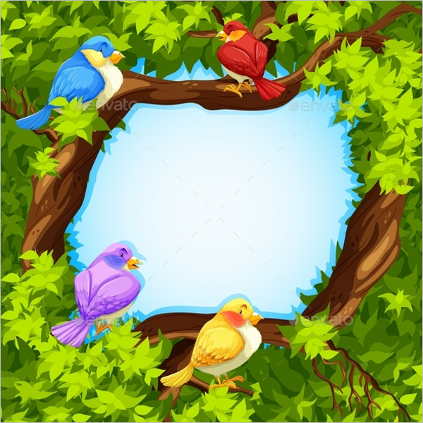 Border Design with Birds