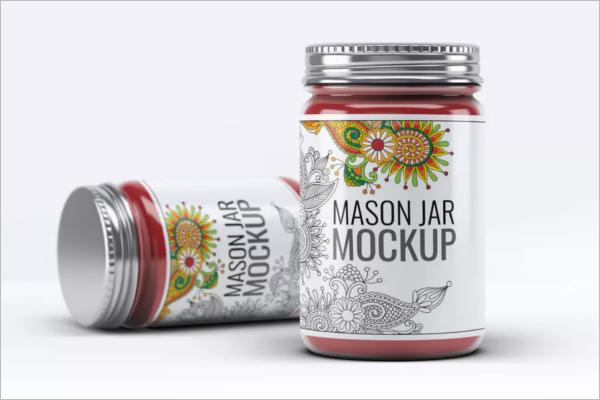 Bottle Shaped Jar Mockup