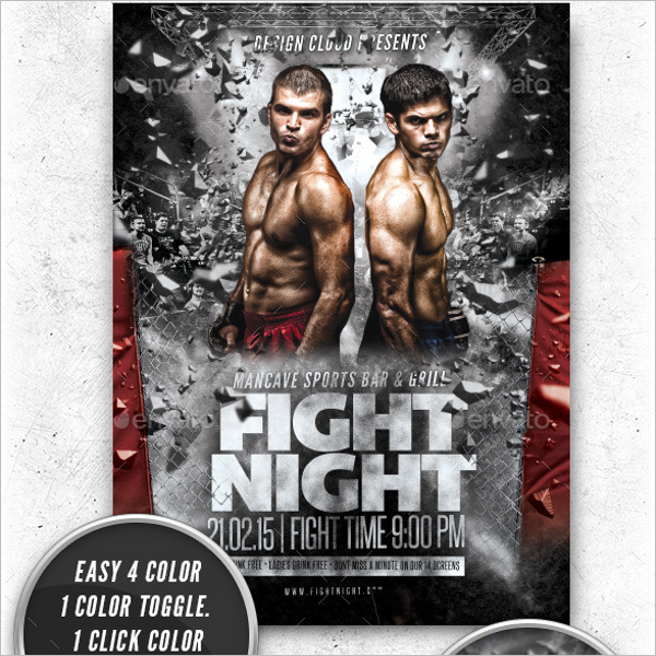Boxing EventFlyer Template