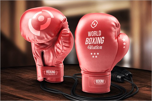 Boxing Glove Mockup Template