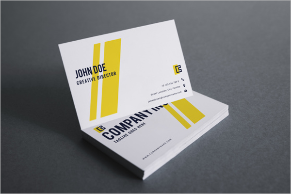 Brand Identity Yellow Business Card Template