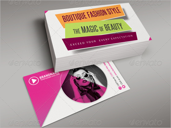 Branded Fashion Card Photoshop Template