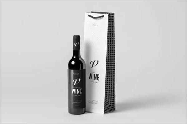 Branded Wine Bottle Mockup