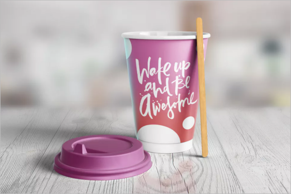 Branding Paper Cup Mockup Design