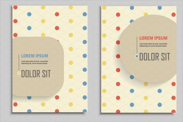 Brochure Design In Retro Style